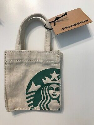 *NWT* Starbucks Summer 2018 Mini White Canvas Bag/GC Holder with Free Shipping!