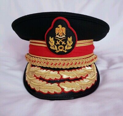 Colonel Gaddafi Military Army General Officers Parade Dress Visor Hat Cap