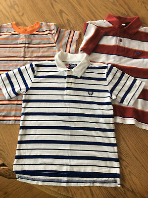 Lot 3 Shirts Size 5T Striped Garanimals Chaps Wrangler Jeans Co Button Short GUC