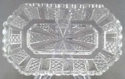 Pair of Anglo Irish Regency Period Cut Crystal Octagonal Dishes Circa 1810 - 20