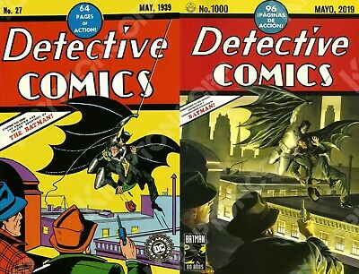 DC Mexico DETECTIVE COMICS #27 MAY 1939 & DETECTIVE COMICS #1000 Alex Ross