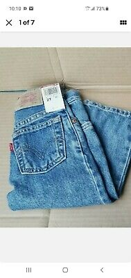 LOT 2 VINTAGE Little Levi's Boy's 550 Red Tab Relaxed Black/ Blue Jeans 2T Reg