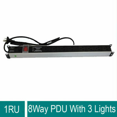 8 way PDU 19'' Power Distribution Units  For Cabinet For Rack Mount 3Y Warranty