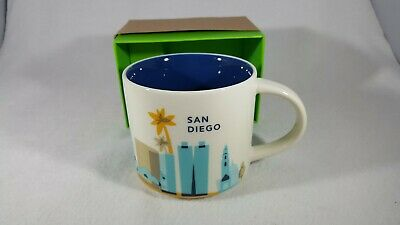 Starbucks Mini Coffee Mug /'You Are Here/' Collection SAN DIEGO Ornaments 2 fl ozI