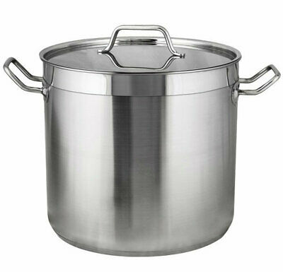 FDG56040 RPLD Stockpots Quality 5 Stainless Steel Deep with Reinforced Pourin...