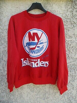 Sweat maillot hockey NHL NEW YORK ISLANDERS vintage années 80 rare shirt jersey