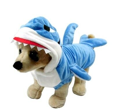 Halloween Funny Dog Cat Shark Costumes Outfits Clothes (S Size)