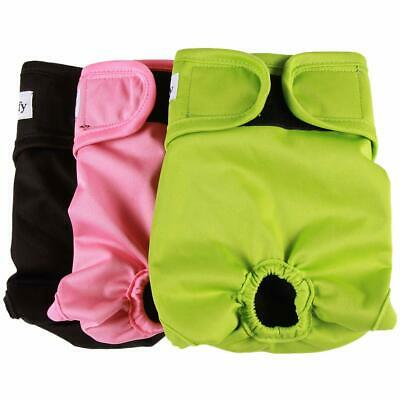 vecomfy Washable Dog Diapers Female for Small Dogs(3 Pack),Premium Reusable Leak