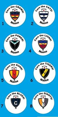 Choose a Footy, Football Nurse Name Tags, Badges. (58mm or 25mm x 70mm)