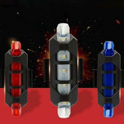 LED USB Rechargeable Bike Bicycle Cycling Tail Rear Safety Warning Light Lamp CR
