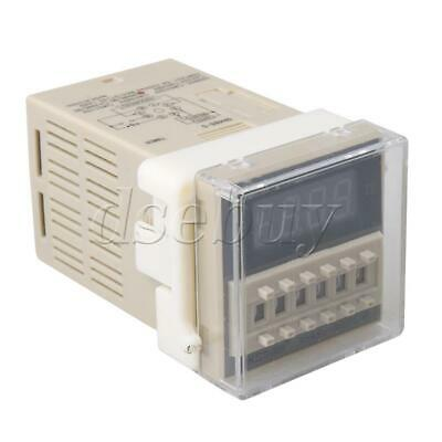 Plastic 8-Pins 24V DC/AC Programmable Double Time Delay Relay DH48S-S