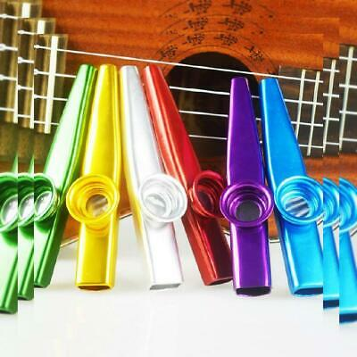 6 Pack Kazoo With 30 Membranes Metal Musical Instruments Kazoos Multipack NEW