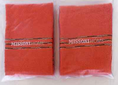 Missoni Home Due Asciugamani Ospiti Astra T58 Two Hand Towels Single Packaging