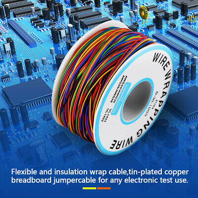 P/N B-30-1000 30AWG Tin Plated Copper 8-Wire Colored Insulation Test Wrapping FZ