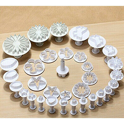 33Pcs 3D DIY Plunger Fondant Cutter Cake Tools Cookie Mold Biscuit Mould Craft
