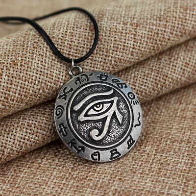 Mens Classical Retro Horus Eye Evil Amulet Necklaces Pendant Alloy Jewelry Gifts