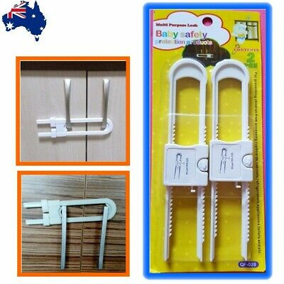 AU Child Kid Baby Safety Drawer Door Cabinet Cupboard U Shape Security Lock HU