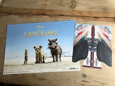 Disney The Lion King ODEON A3 Poster:2019 Movie+FREE DUMBO PAPER PLANE+FREE POST