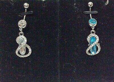 Piercing Ombelico Gioiello Jewelry Navel Belly Bars 316L Surgical Steel Infinito
