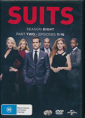Suits Season 8 Eight Part 2 Two DVD NEW Region 4