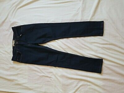 "Mens Next Dark Blue Super  Skinny Jeans Size 32"" Waist 28"" Leg"