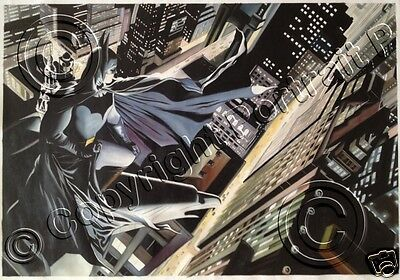 Batman Oil Painting Art Hand-Painted Canvas City Not Giclee Print Poster 24x36
