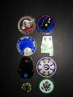 Geocoin Lot Of 7 Geo Coins & One Geo Tag