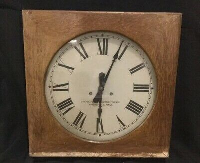 The standard electric time co. Springfield mass Wall Clock g6