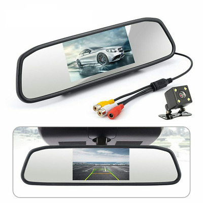 4.3in Car Rear View Mirror Monitor Waterproof Parking System Night Vision Camera