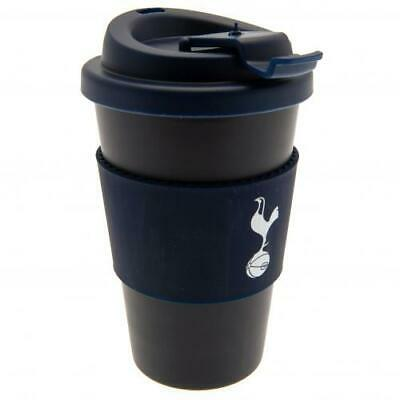 Tottenham  Hotspur FC Official Crested 400ml Silicone Grip Travel Mug Present