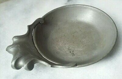 Antique Italian Pewter Porringer Unusual Wine Tasting Dish Bowl Peltro Metalars