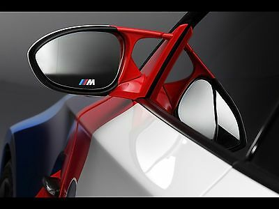 2x BMW M tec Side mirror glass sticker decal logo F10 F20 F30 F01 E70 E90 E71