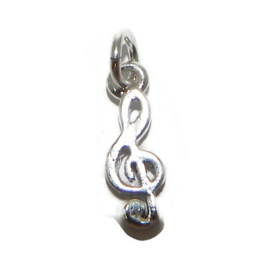 Sterling Silver Jewelry Pendants /& Charms Solid 21 mm 24 mm Enameled Mask Treble Clef Pendant