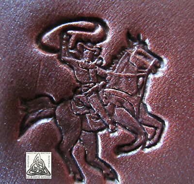 """Discontinued Craftool Co. USA Cowboy Lasso Rider 1"""" Leather Stamp Tool 8478"""