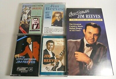 LOT of Jim Reeves CDs, Cassette Tapes, Video Tape (19 Items)