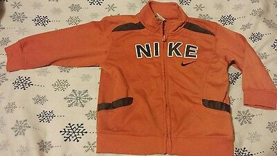 Nike Boys Zip Up Jacket Track Jacket Size 12 Months Orange Brown