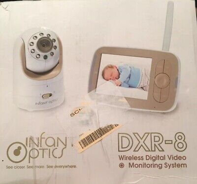 Infant Optics DXR-8 Video Baby Monitor with Interchangeable Optical Lens - White