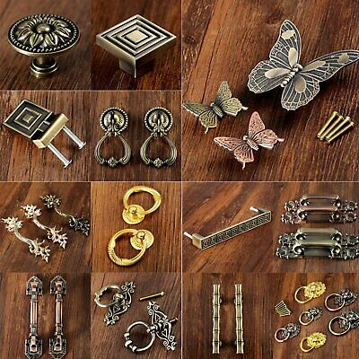 1/2Pcs Fashion Solid Cone Cabinet Drawer Door Handle Beautiful Alloy Pull Knob