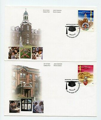 Canada FDC #1975-76 Canadian Universities St FX and MacDonald2 Covers 2003 73-5