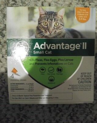 Bayer Advantage II for Small Cats 5-9 Lbs - 4 Pack -  FLEA TREATMENT CONTROL