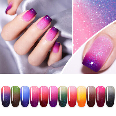NICOLE DIARY 6ml Thermal Gel Polish Color Changing Soak Off UV Gel 12 Colors
