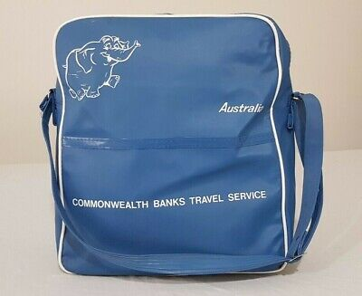 Vintage Commonwealth Australia Bank Vinyl Travel / Shoulder Bag