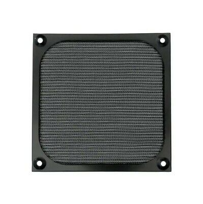 120mm Square Fan Mesh Grill Guard Stainless Steel Black Anodized AFM-120M