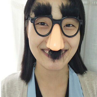 Funny Black Halloween Eyebrow Nose With Mustache Costume Party Glasses Day Props
