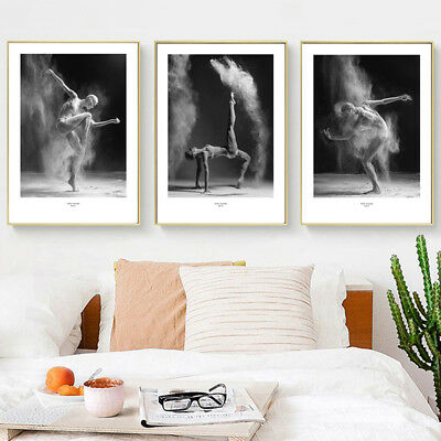 Am_ KF_ Modern Dancer Canvas Wall Painting Poster Picture Art Home Decor Unframe