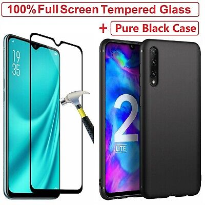 Tempered Glass Screen Protector + Cover Case For Honor 20 20 Lite 10 9 8S 8X 8A