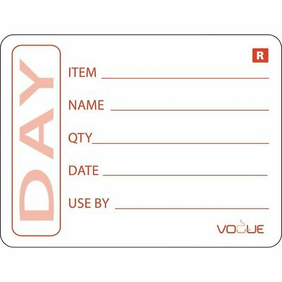 Vogue E148 Removable Prepped Food Labels Pack of 500