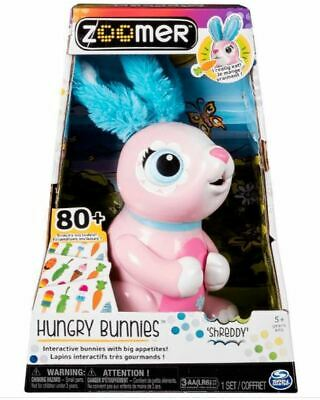 Zoomer Hungry Bunnies CHEWY, Interactive Robotic Pet Rabbit That Eats, Ages 5+