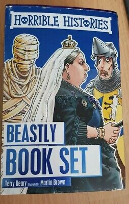 Horrible Histories Collection 10 Beastly Book set new