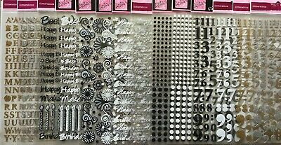 Docrafts Anita Papermania Glitterations Stickers-Letters,Numbers,Flowers,Dot Etc